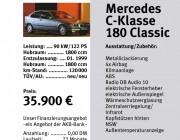 Autogalerie Schwandorf  : Flyer : Datenblatt