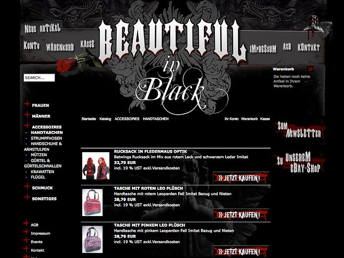 Beautiful in Black · Onlineshop