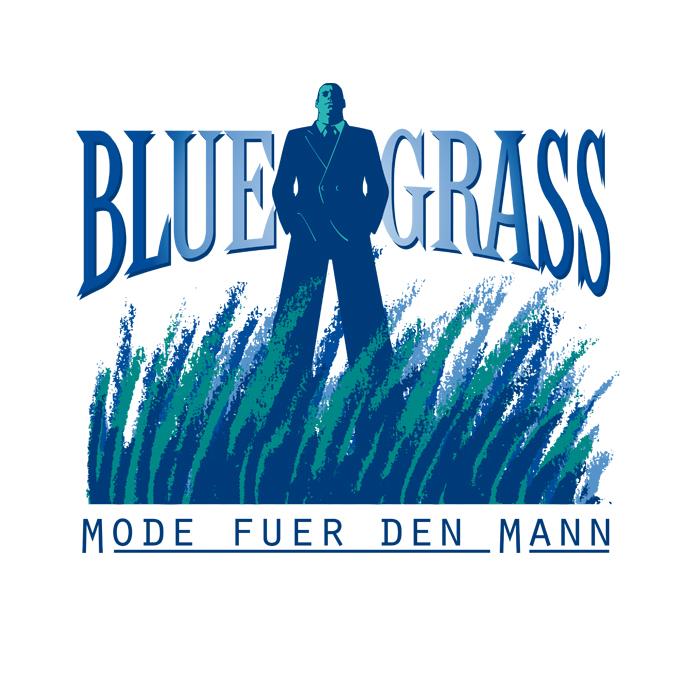 Blue Grass, Mode für den Mann · Logo/Wort-Bildmarke