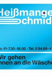 Heißmangel Schmid : Logo : Firmenschild : Claim