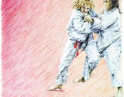 Judoclub Nittendorf e.V. : Illustration : Buntstift : Key Visuals