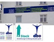 dbo Dienstleistungen und Bildung : Leitsystem : Spanntransparente