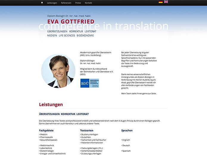 Dr. Gottfried · Übersetzungen · Homepage