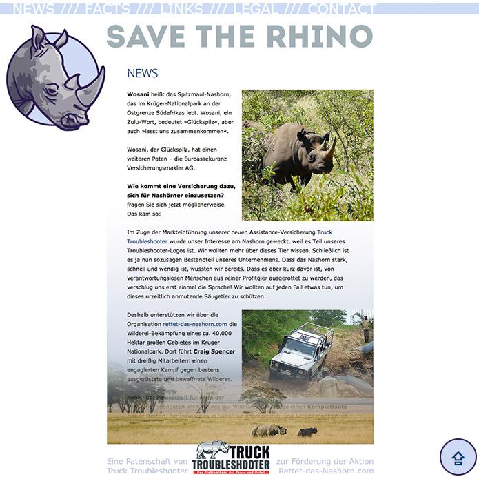 Save-The-Rhino · Homepage