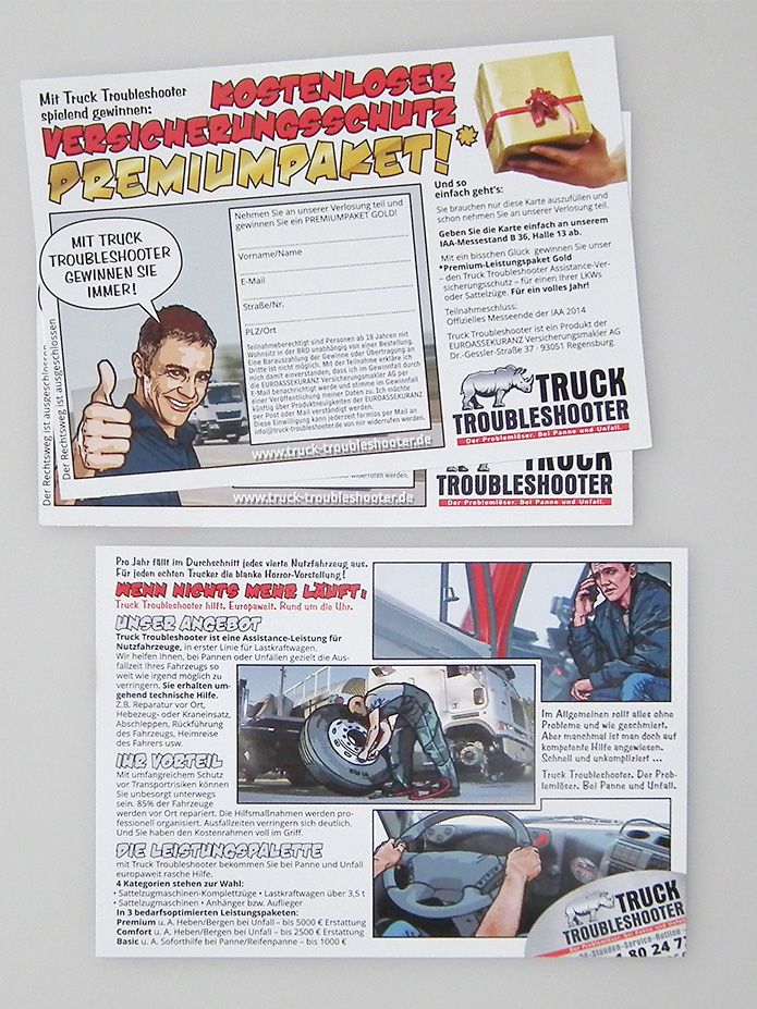 Truck Troubleshooter · Flyer · Gewinnspiel