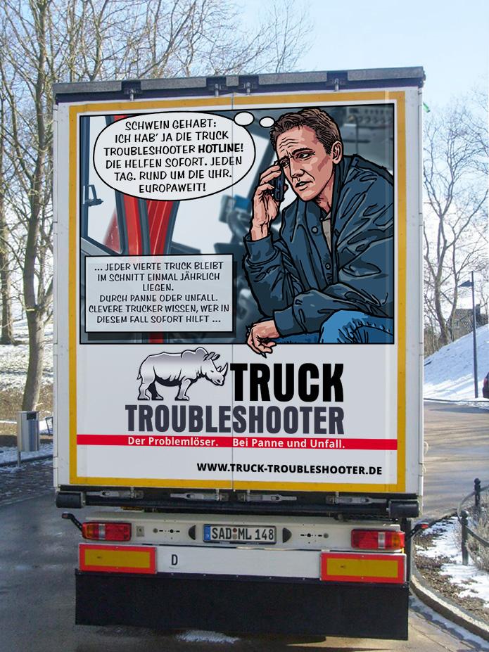 Truck Troubleshooter · Fahrzeugwerbung