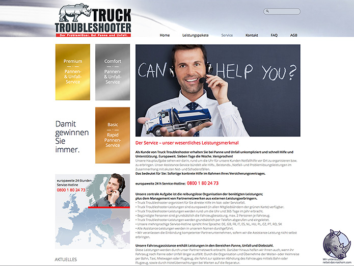 Truck Troubleshooter · Versicherungen · Homepage