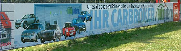 Autogalerie GmbH · Bandenwerbung