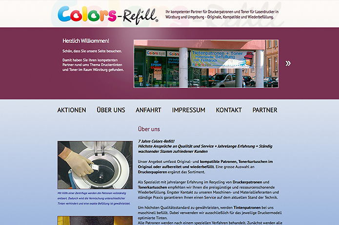 Colors-Refill · Homepage