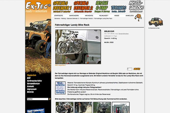 ExTec GmbH · Online Shop