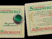 Gasthaus Sorgenfrei : Café Auditorium : Visitenkarte : Flyer