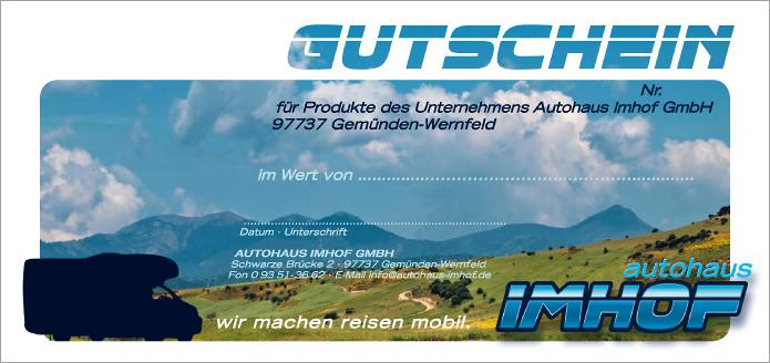 Autohaus Imhof · Gutschein