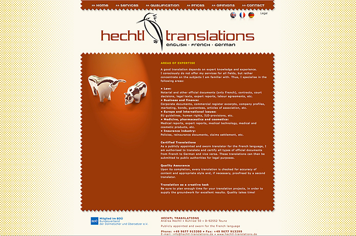 Hechtl Translations · Homepage