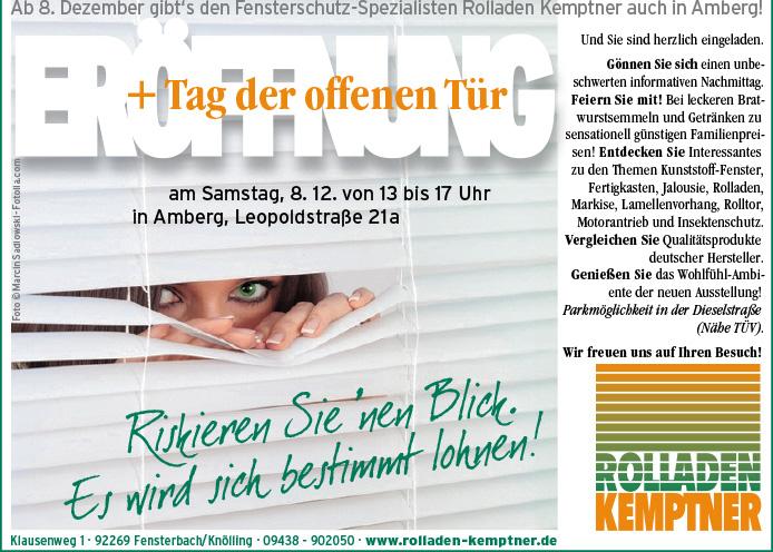 Rolladen Kemptner · Anzeige
