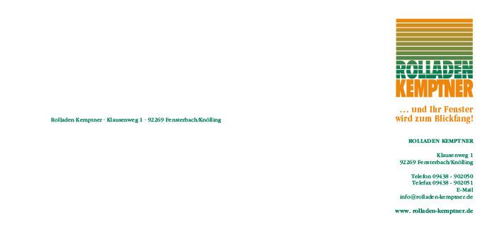 Rolladen Kemptner : Briefbogen : Visitenkarte : Formular : Stempel