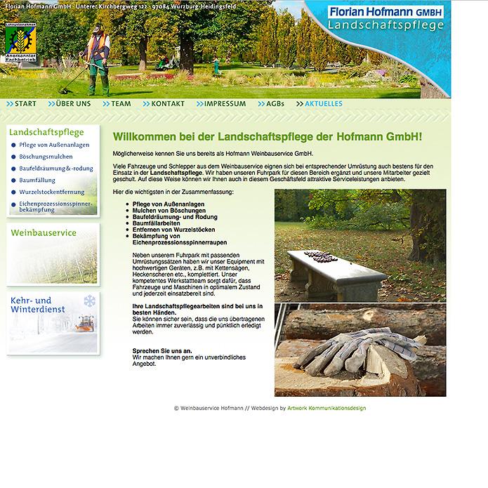 Landschaftspflege Hofmann · Homepage