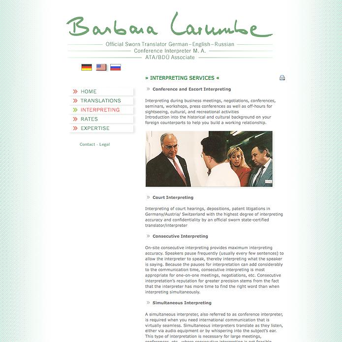 Larumbe · Homepage