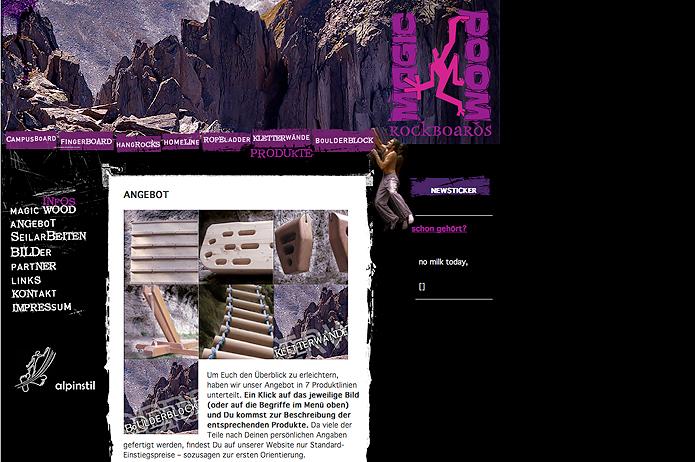 Magic Wood · Homepage