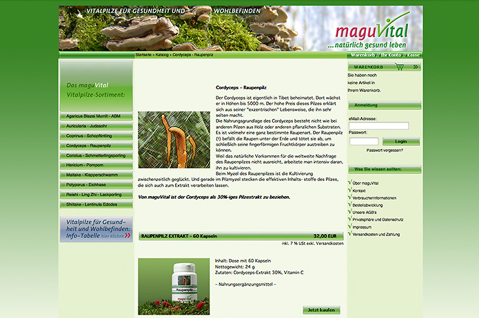 MaguVital · Nahrungsergänzung · Homepage & Onlineshop