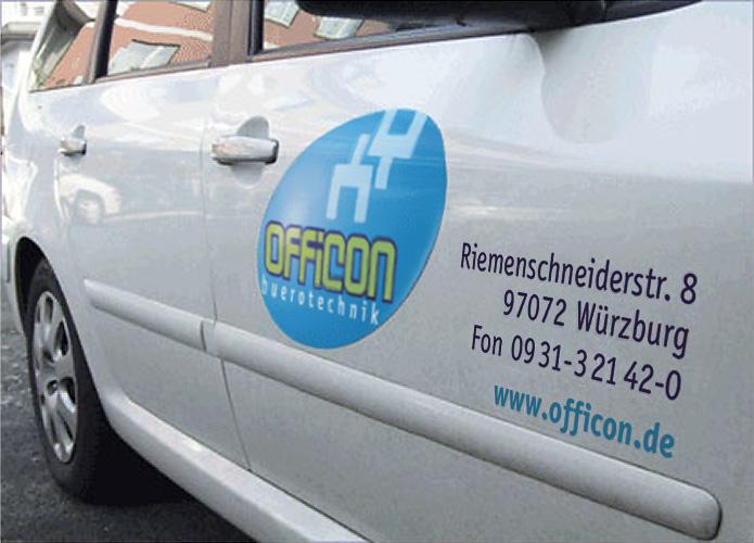 Officon · Aufkleber · Fahrzeugwerbung