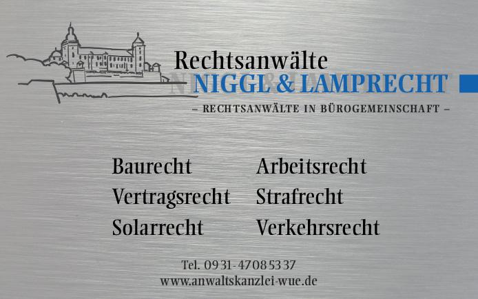 RAe Niggl & Lamprecht · Firmenschild