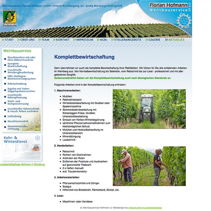 Weinbauservice Hofmann · Homepage