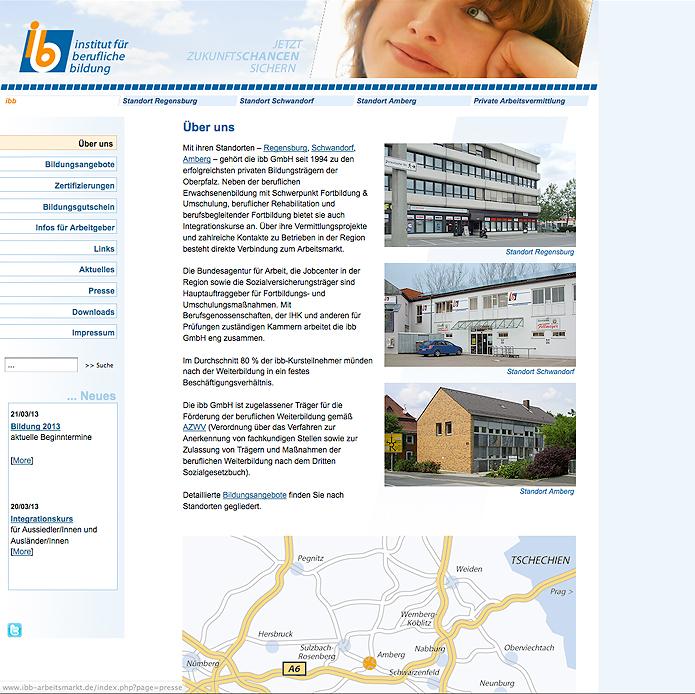 ibb · Institut für Berufliche Bildung · Homepage
