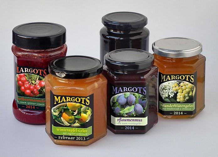 Margots Marmeladen · Etiketten