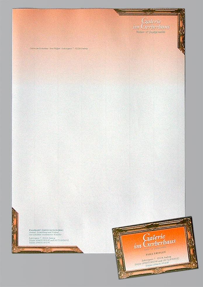 Galerie zum Gerberhaus · Briefbogen · Visitenkarte