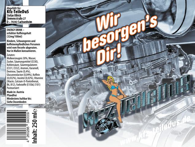 KFZ-Teile DuS : Energydrink