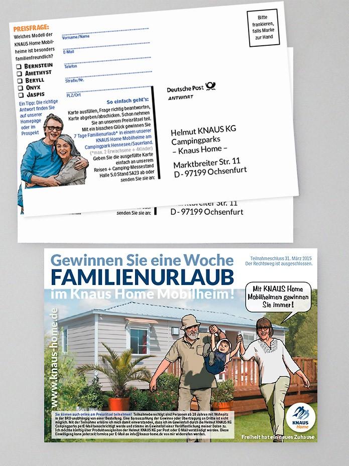 Knaus KG Campingparks · Preisrätsel · Flyer