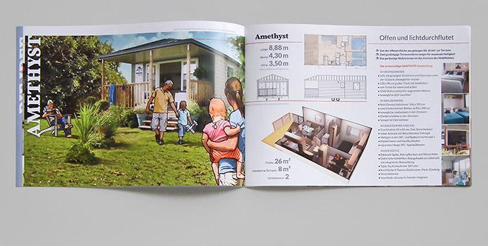 Knaus KG Campingparks · Prospekt · Illustrationen