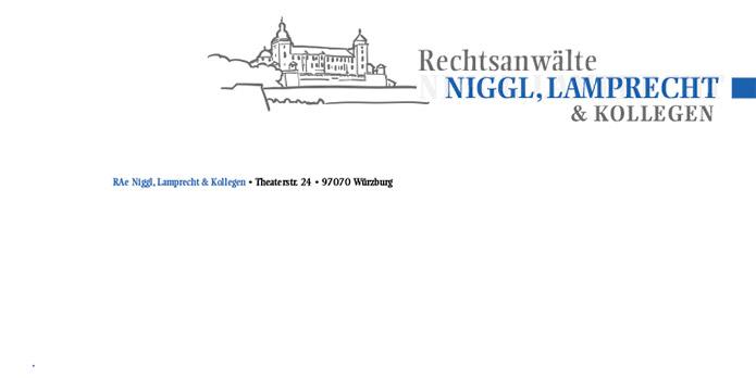 RAe Niggl & Lamprecht : Briefbogen : Visitenkarte