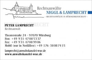 Visitenkarte RA Lamprecht