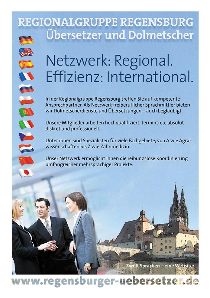 Regensburger Übersetzer · Anzeige