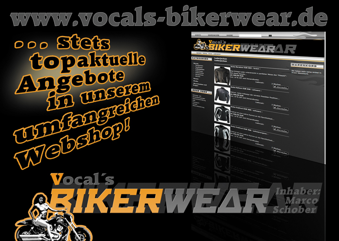 Vocal's Bikerwear · Flyer