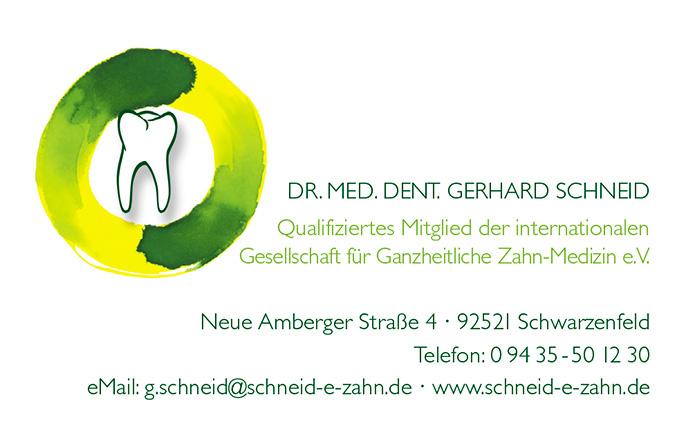 Dr. Schneid & Dr. Frank : Briefbogen : Visitenkarte : Terminkarte