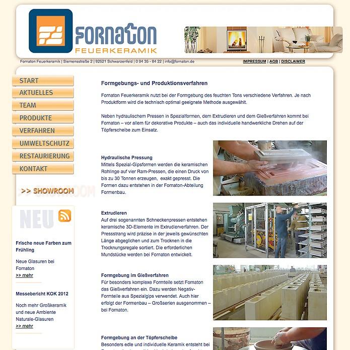 Fornaton Feuerkeramik GmbH · Homepage