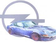 Opel Sportclub Schwarzenfeld : Illustration : Buntstift