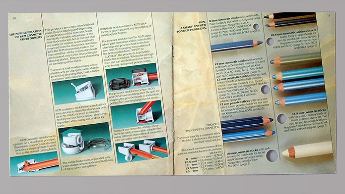 KUM GmbH & Co KG · Prospekt · Airbrush-Illustrationen