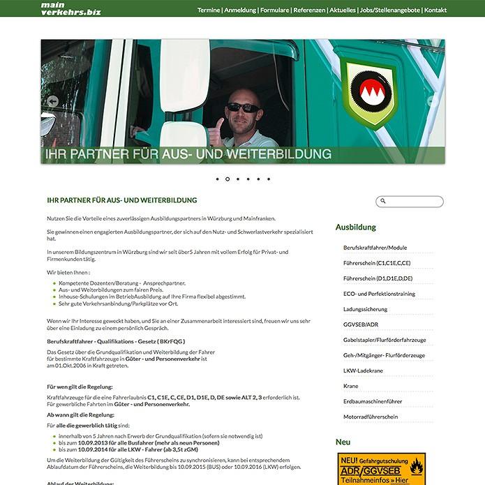 Mainverkehrs.biz · Homepage