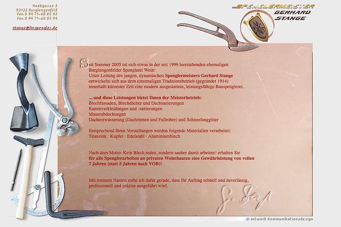Bauspenglerei Stange · Homepage