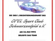 Opel Sportclub Schwarzenfeld : Urkunde