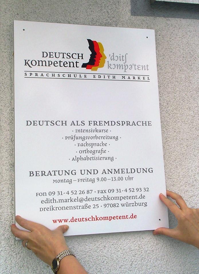 Deutsch Kompetent · Firmenschild