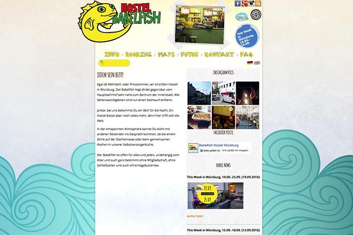 Babelfish Hostel Würzburg: Homepage