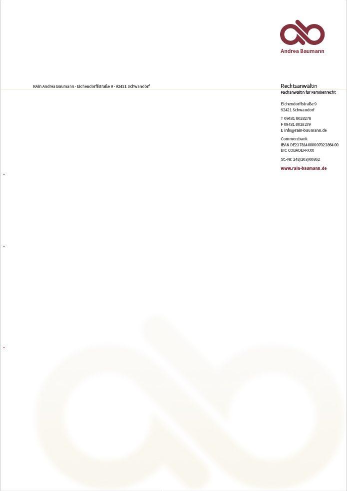 RAin Andrea Baumann – Briefbogen