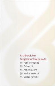 RAin Baumann Visitenkarte Rückseite