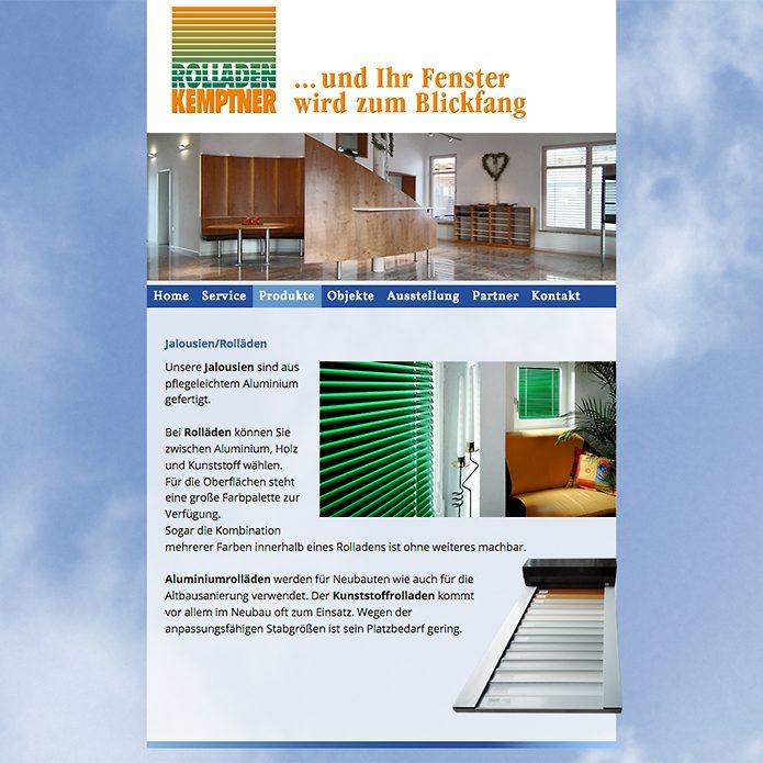 Rolladen Kemptner · Homepage