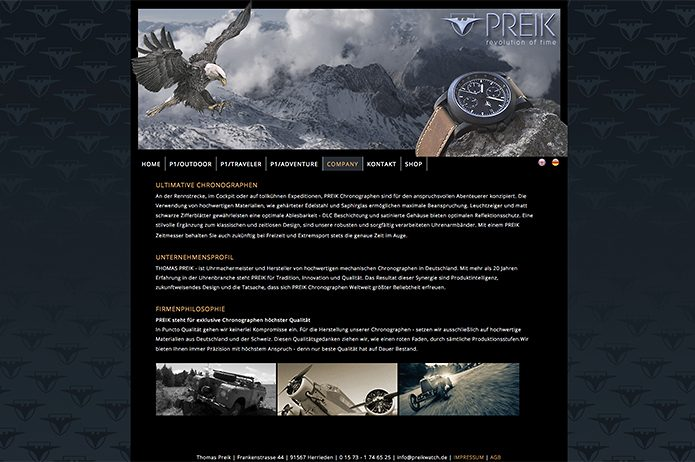Preik Chronographen Homepage