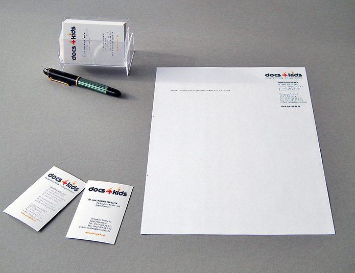 docs4kids Briefbogen Visitenkarten